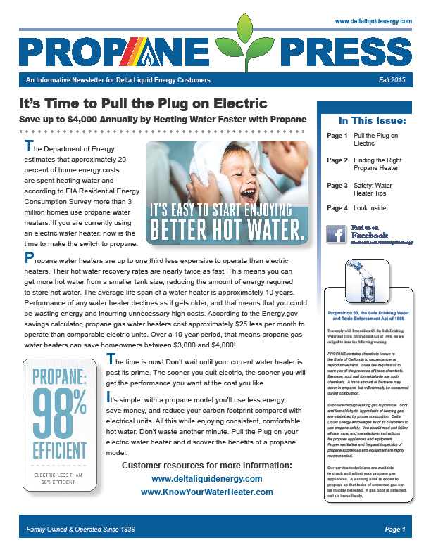DLE Propane Press Newsletter